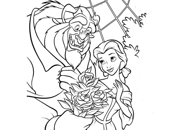 beauty and the beast coloring pages beauty and the beast rose 33