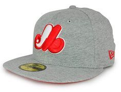 new era x mlb expos fitted cap