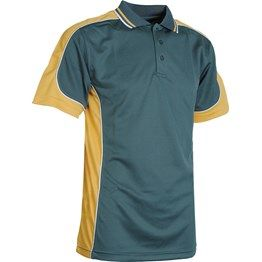 165GSM 100% Polyester cooldry micromesh moisture management short sleeve polo's shirt with striped collar, contrast side and shoulder panels with contrast piping. This polo's comes with loose pocket (we can attached pockets for you) http://bit.ly/MxHT1s