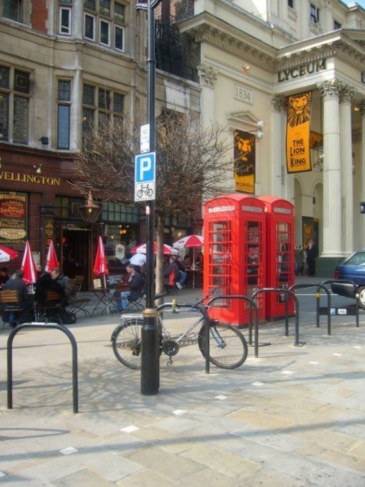 London, England, phone booths red, disappearing