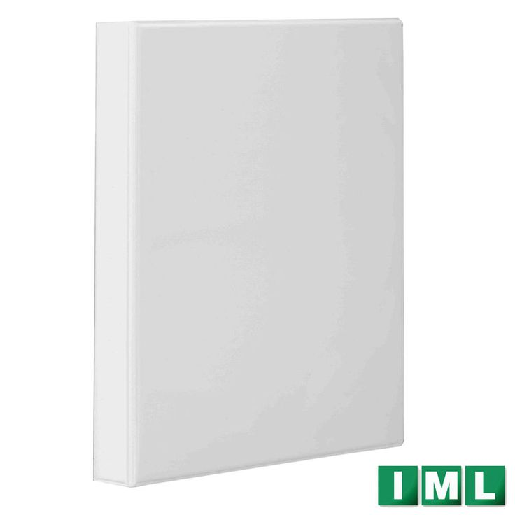 Binder 4 D-Ring A4 Polypropylene Presentation Binder Spine 4mm White Made in EU #IML