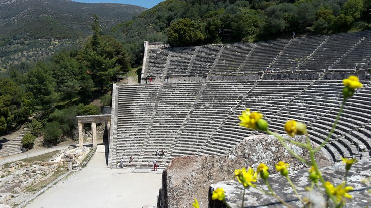 The ancient theatre of Epidaurus!