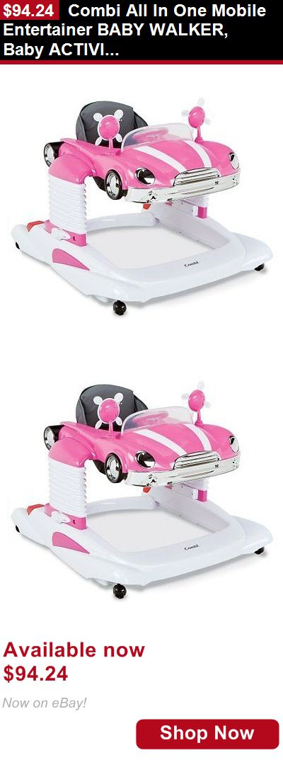 Baby walkers: Combi All In One Mobile Entertainer Baby Walker, Baby Activity Walker, Pink BUY IT NOW ONLY: $94.24
