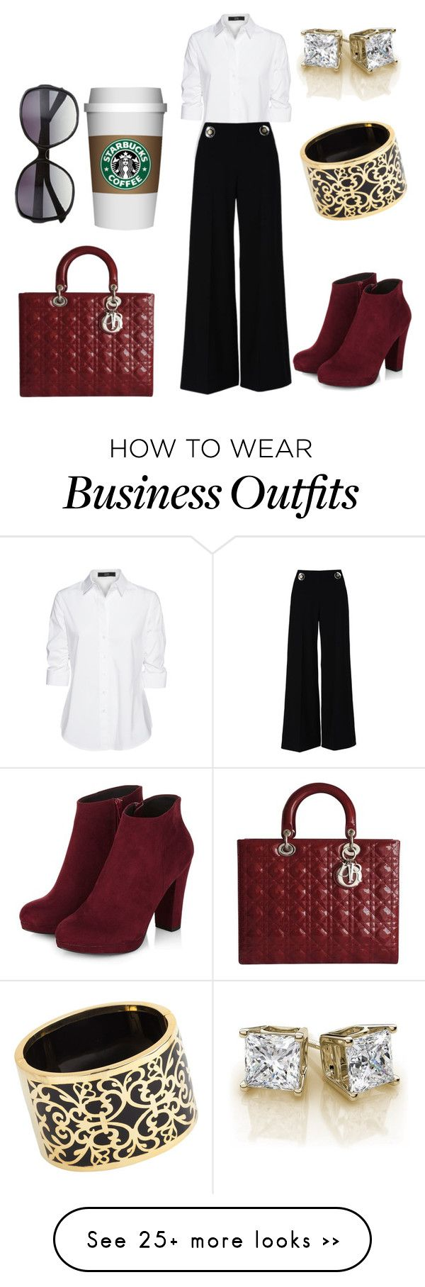 """Fall work wear"" by sets-by-mireya on Polyvore featuring Steffen Schraut, STELLA McCARTNEY, Miriam Salat, Vince Camuto, Christian Dior, love, burgundy and 2015"