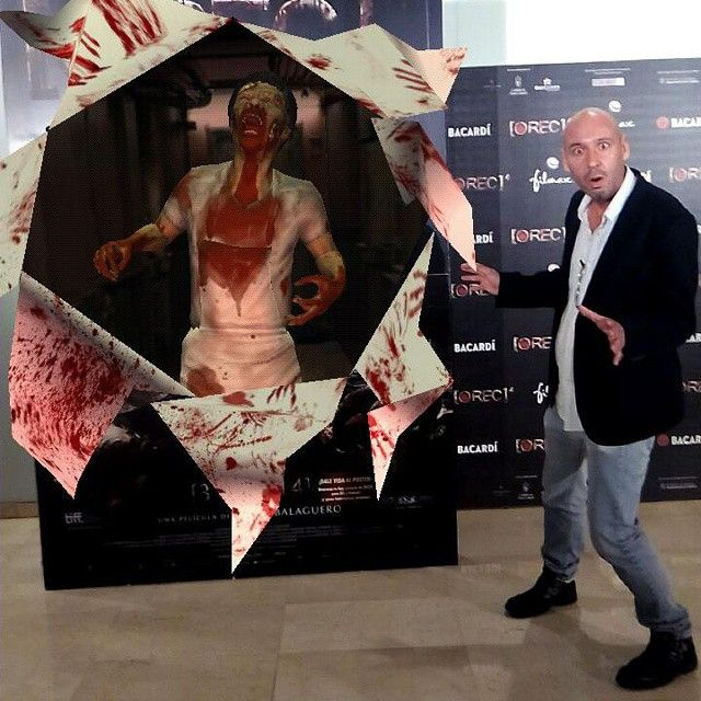 The film director Jaume Balagueró on the #premiere of [REC]4 #augmentedreality #zombie #creativity