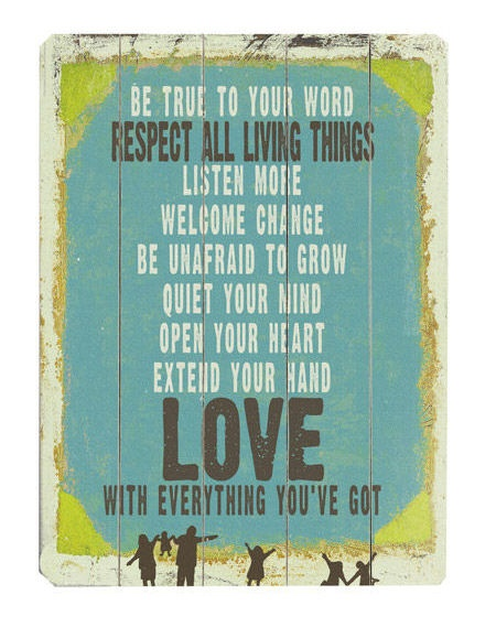 Be True Love Quote Wall Art <3