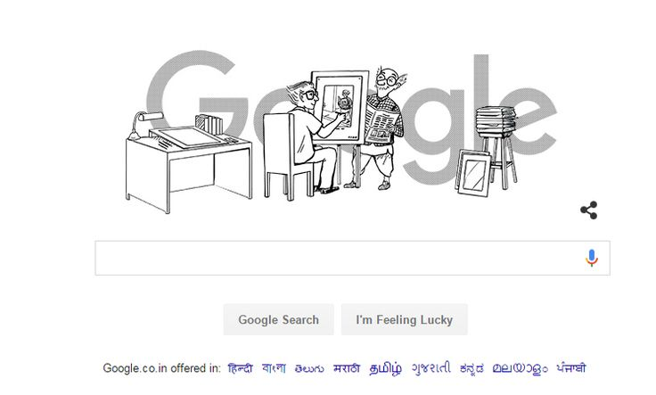 Google pays tribute to Late Mr. R.K.Laxman