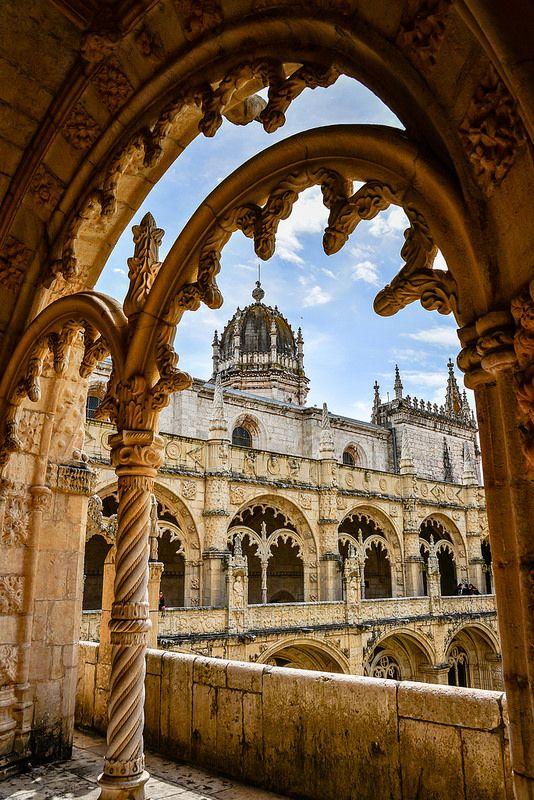 Manueline ornamentation in the cloisters of Jerónimos Monastery Belém - Lisbon,  Portugal