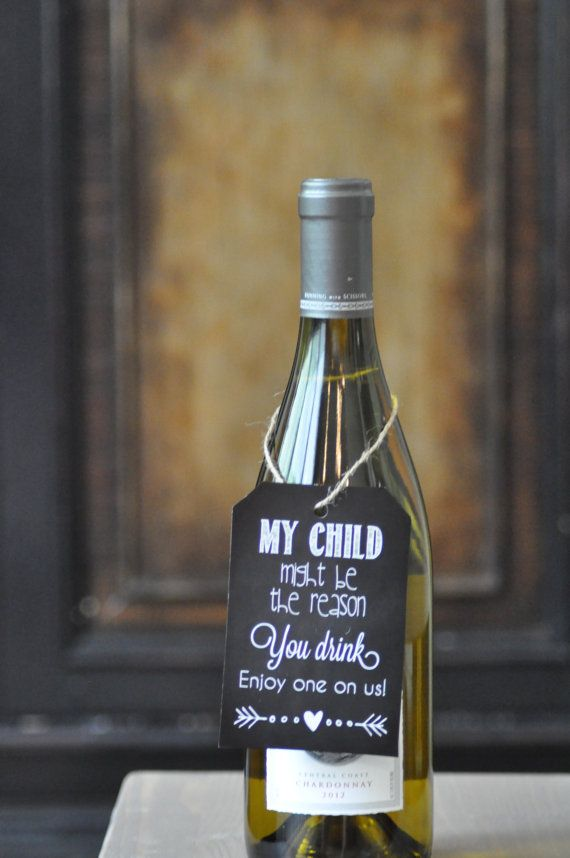 Teacher Wine Gift My Child Might be the Reason you drink...LOVE this teacher gift