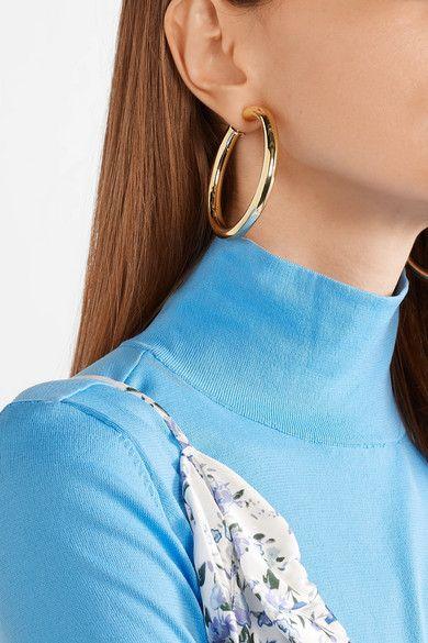 6cc0fcc57 Jennifer Fisher | Samira gold-plated clip hoop earrings | NET-A-PORTER.COM