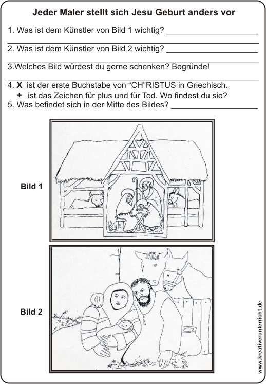 Die Geburt Jesu mit Bildinterpretation