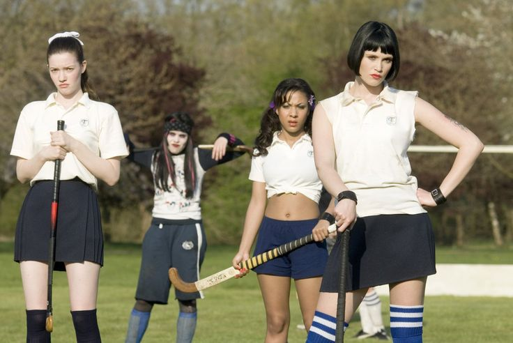Tamsin Egerton, Talulah Riley, Antonia Bernath, Amara Karan, and Gemma Arterton in St. Trinian's (2007)