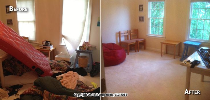 A Spare Room Before After 3 Hour Organizing Session With On Task LLC