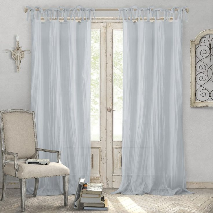 Elrene Jolie Tie-top Curtain Panel | Overstock.com Shopping - The Best Deals on Curtains
