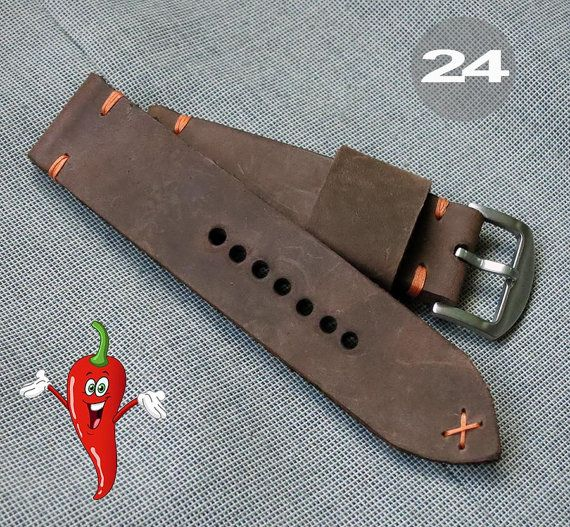 Watch strap leather watch strap watch band by chileconcarne