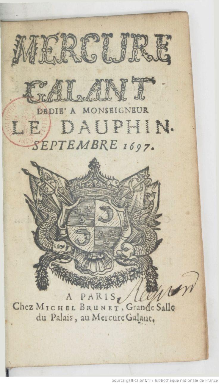 Mercure galant -- 1697-09 -- periodiques