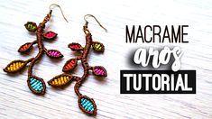 Aros con ramas ♥︎ macrame tutorial   como hacer   diy ● Earrings #choker #gargantilla #collar #pulsera #bracelet #friendshipbracelet #bracelets #macrame #hiloencerado #colores #artesania #artesana #diy #doityourself #comosehace #comohago #hazlotumismo #tutorial #tutoriales #manualidades #manualidad #temuco #chile #youtuber #facil #easy #quick #rapido #gift #idea #comohacer #aros #earrings #howto #hippie #chic