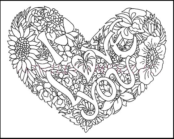 15 best I Love You Coloring Pages images on Pinterest | Coloring ...