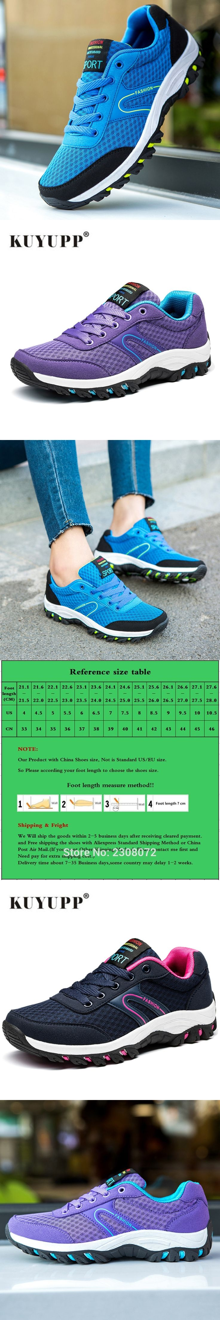 Women Hiking Shoes Waterproof Climbing Shoes Anti-Slip Trekking Shoes Outdoor Mixed Color Slip-on Sport Shoes 2017 Spring B11
