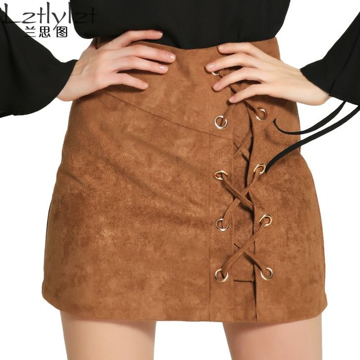 1000 ideas about brown leather skirt on