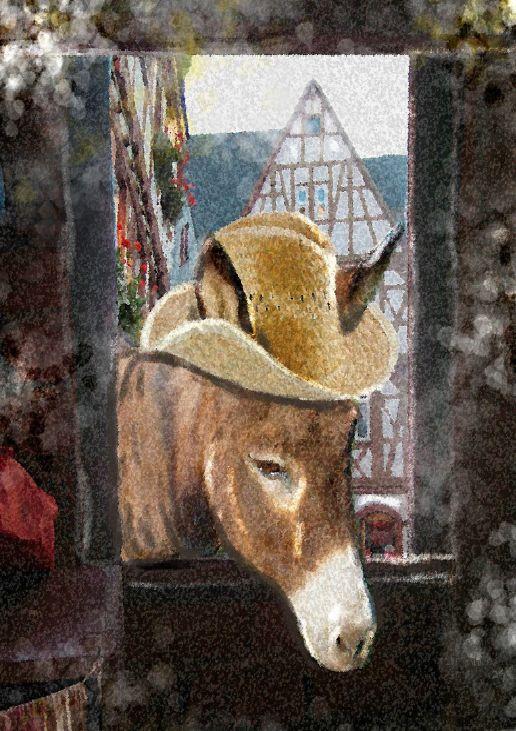 Der alte Schreiner hockte in seinem Wald und sagte sich: »Wenn ich mal sterbe, werden meine märchenhaften Sachen für immer vergessen sein.« Also nahm er den Esel und band ihm das Tischchen auf den Rücken, warf sich den Sack über die Schulter und begab sich auf die Wanderung in die große Stadt.  DAS GRÖSSENWAHN MÄRCHENBUCH - ISBN 978-3-942223-30-0 - www.groessenwahn-verlag.de
