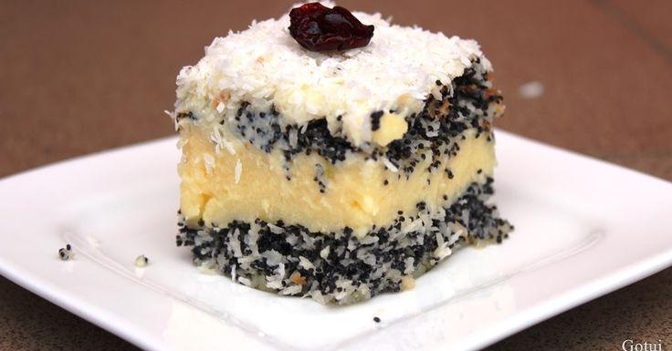Makowa panienka to ciasto, które będzie hitem nadchodzących świąt Bożego Narodzenia! Lekkie makowo - kokosowe blaty ciasta przełożone py...