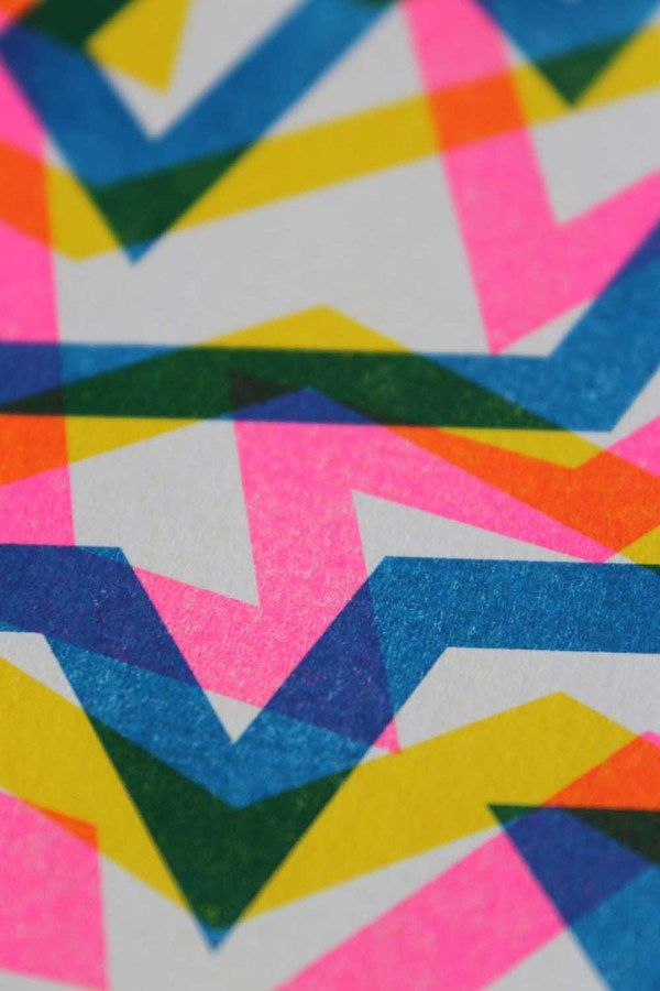 Patterned Risograph Prints by William Branton, via Behance