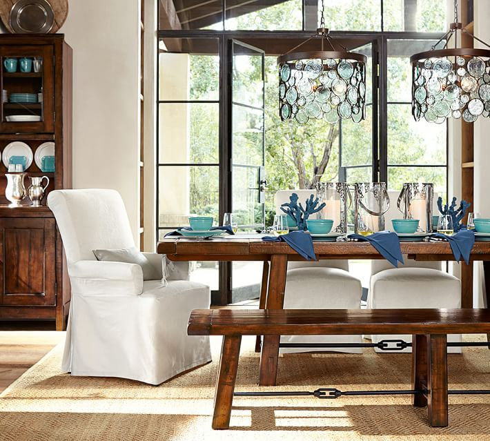 benchwright extending dining table dining room furniture