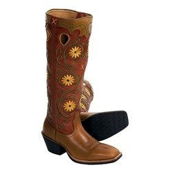 """Twisted X Boots Buckaroo Cowboy Boots - 17"""", Wide Square Toe (For Women)"""