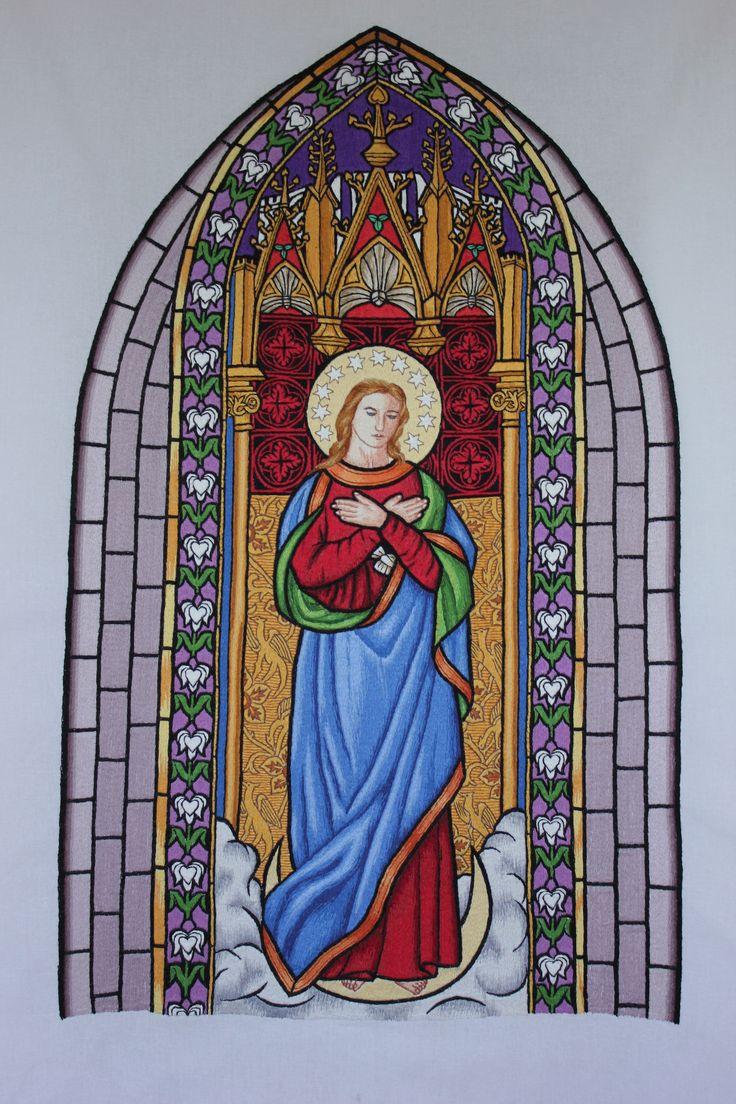 Haft: Witraż z kościoła Gowidlino.