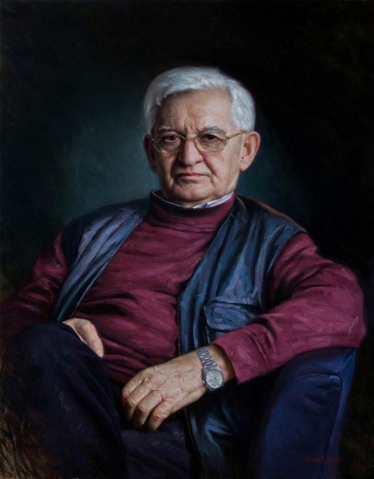"""The Art Critic. Portrait of Nikola Kusovac"", oil on linen."