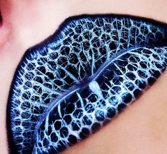 Black and Blue Detailed Lips by Monroe Misfit