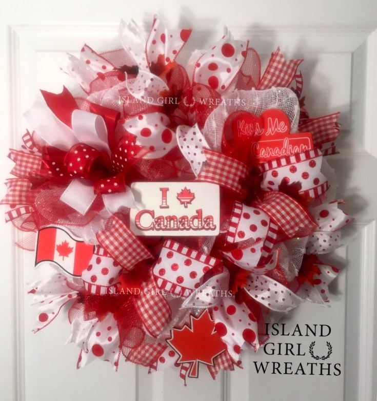 A personal favorite from my Etsy shop https://www.etsy.com/listing/235719137/canad-day-wreath-deco-mesh-canadian