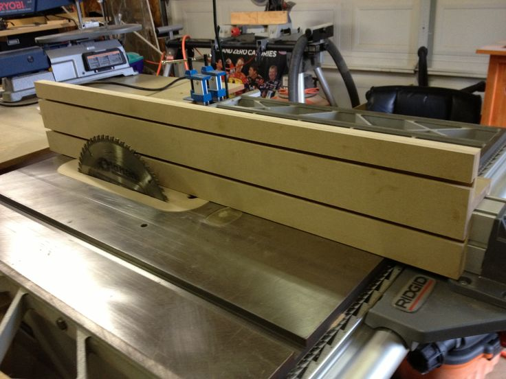 Auxiliary Fence For My Table Saw Layered 1 4 Mdf On Top Of 3 4 Mdf And Made T Slots So I