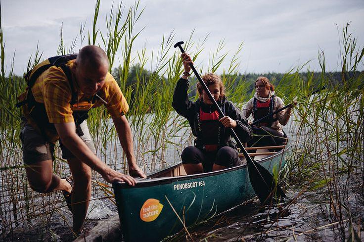 WIlderness #Canoeing in Lake Kattilajärvi #Nuuksio National Park #Espoo, near #Helsinki