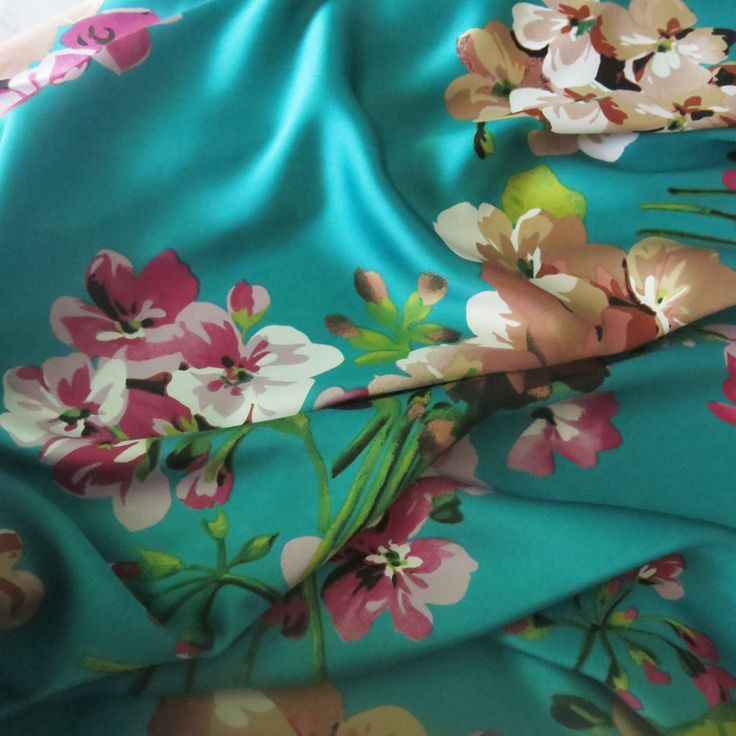 100*150cm,Soft Bridal Dress Material Crepe Satin Charmeuse Fabric Aquamarine…