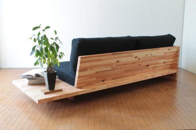 Japanische Couch & Beistelltisch – #Bedside Table #Couch #Japanese #lounge   – plakat