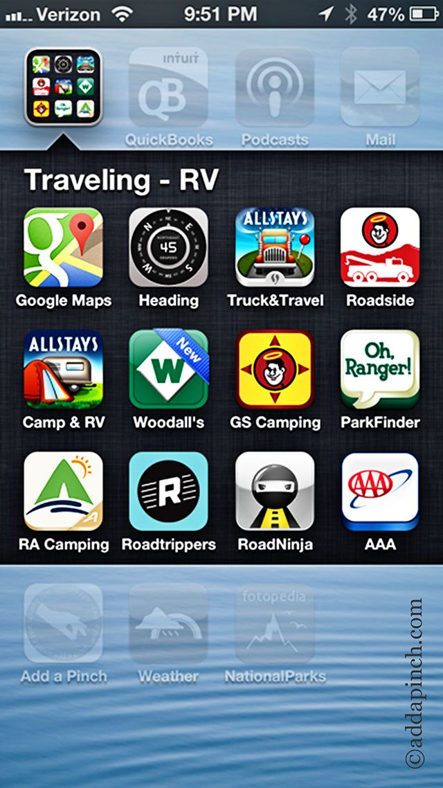 Favorite RV and Camping Apps   ©addapinch.com