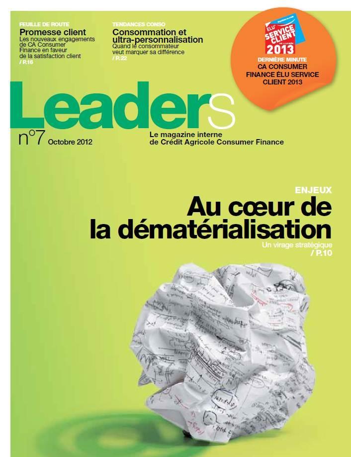 Crédit Agricole - Magazine interne Leaders