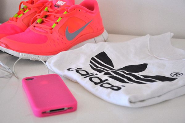 pink - work out - clothes - jogging - nike - adidas -