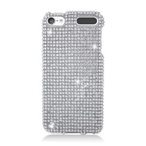 Apple iPod touch 5 / 5th Generation - Full Diamond Bling Hard Shell Case (Silver White) ik i said i wanted a durable case, but i also want multiple cases so i can change them out.