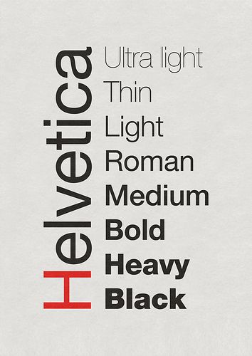 A Tribute to my favorite type face, Helvetica and Family you are amazing.: