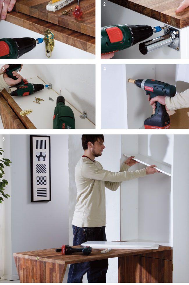 Oltre 25 fantastiche idee su scrivania con scaffali su for Scrivania da parete