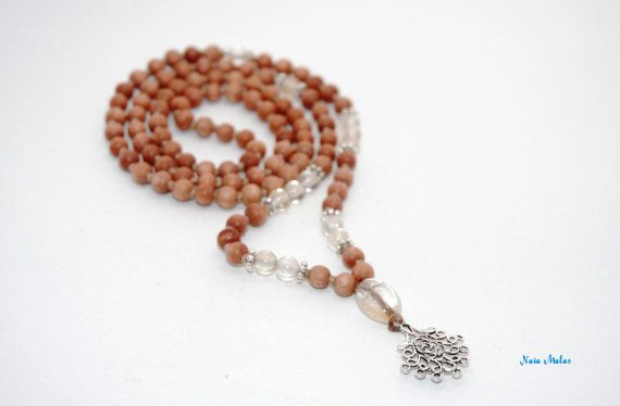 MANIFESTATION Mala  Handknotted 6mm citrine and by NaiaMalas
