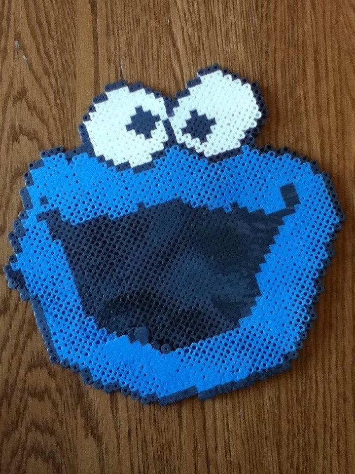 Cookie Monster. Perler bead
