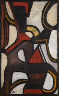 Jean Michel Atlan, Le Tao, 1956 Huile sur toile, 146 x 89 cm