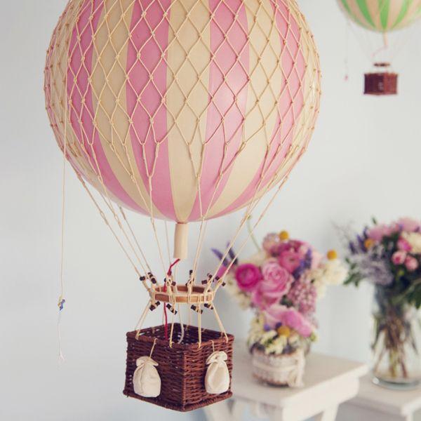 Vintage Hot Air Balloon – Pink