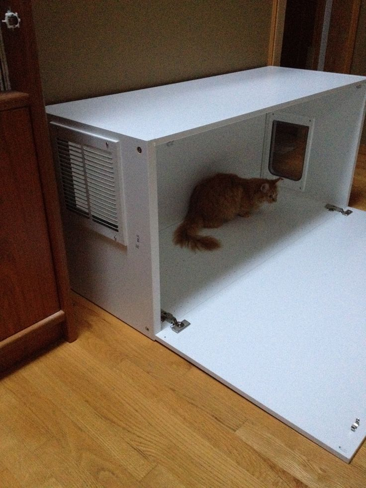 ikea hack hidden litter box for under 50 pets in the