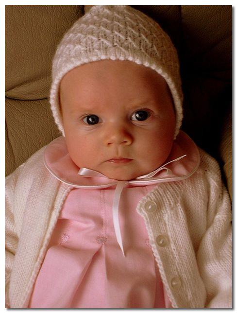 Adorably cute baby girl