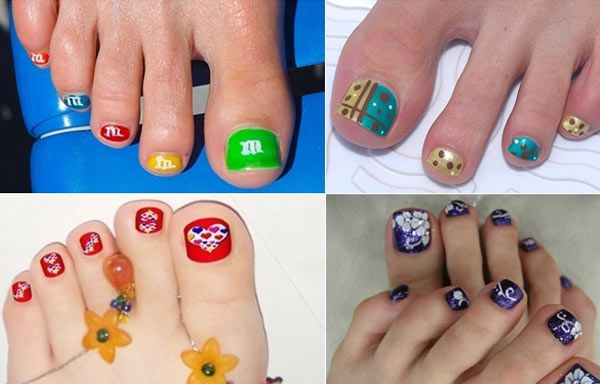 Diseños para uñas de los pies, disño de uñas de los pies colores.   #uñas #nailsdesign #uñasdemoda